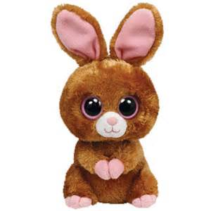 ty beanie boos hopson brown bunny solid eye color regular size 6 bbtoystore