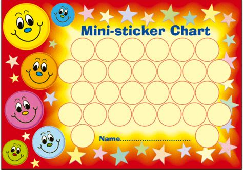 sticker chart printable mini sticker charts free printable reward and