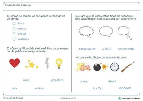 lectura y redaccin ejercicios y teora sobre lengua espaola ficha de s 237 mbolos y onomatopeyas para alumnos de educaci 243 n