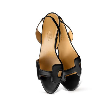 hermes womens sandals herm 232 s ottomane slingback sandals in black lyst