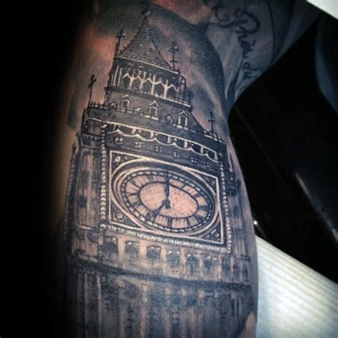 clock tower tattoo 90 building tattoos for architecture ink design ideas