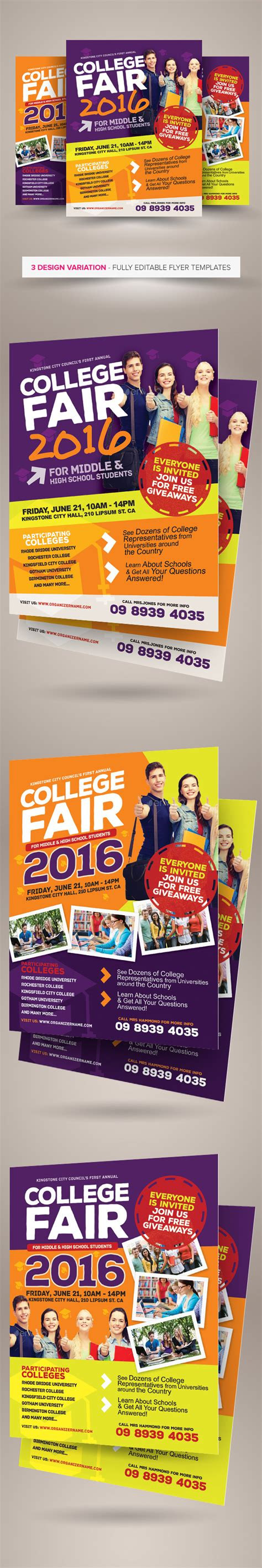 College Fair Flyer Templates On Behance College Fair Flyer Template