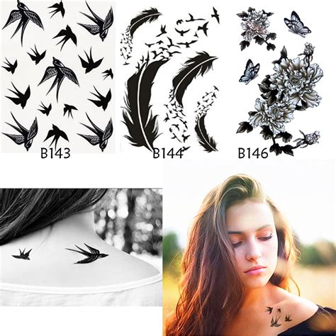 aliexpress tattoo online buy wholesale bird feather tattoos from china bird