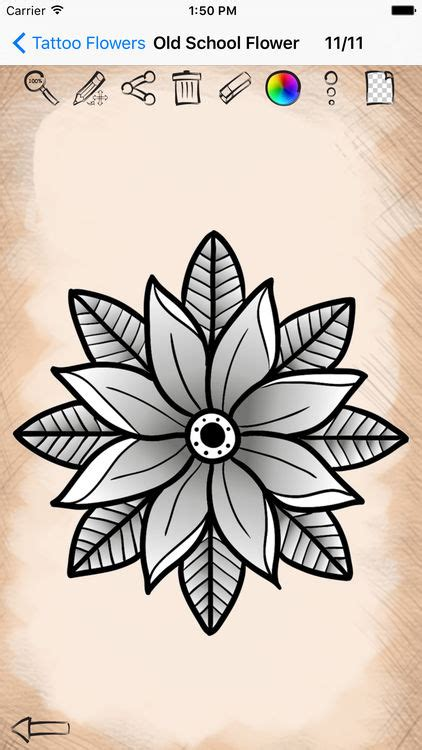 design a tattoo app learning to draw flower designs by hristina nespeshnaya