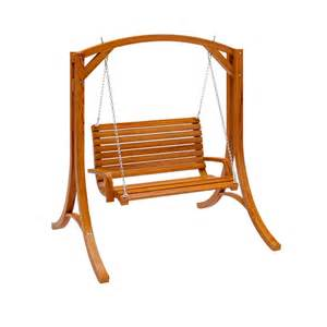 corliving pwc 331 s wood patio swing lowe s canada