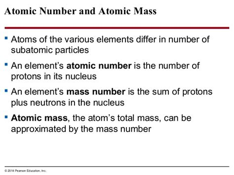 Number Of Protons Plus Number Of Neutrons Biology In Focus Chapter 2