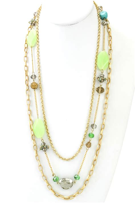 multi layer chain necklace necklaces
