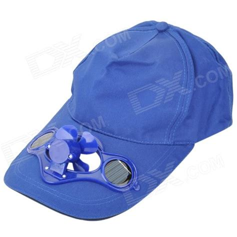 baseball hat cap with solar powered cooling fan