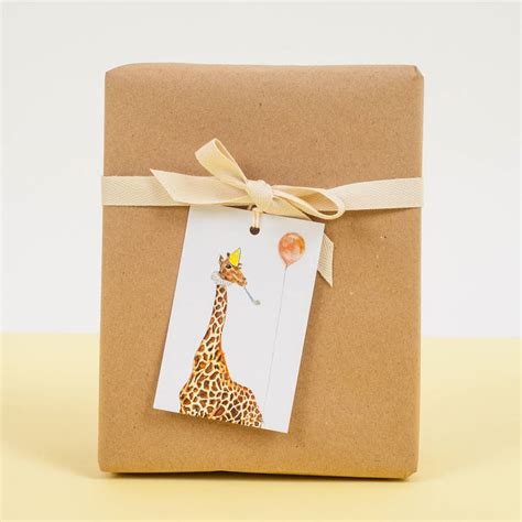 Peebles Gift Card - giraffe gift tags by mister peebles notonthehighstreet com