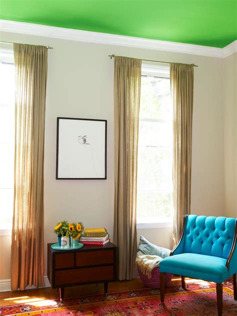 How To Paint Between Ceiling And Wall by Paint A Bold Color On Your Ceiling Hgtv