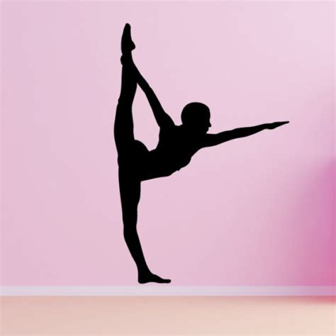 Black White And Gold Home Decor by Gymnastics Dancing Floor Pose Wall Decal Vivid Wall Decals