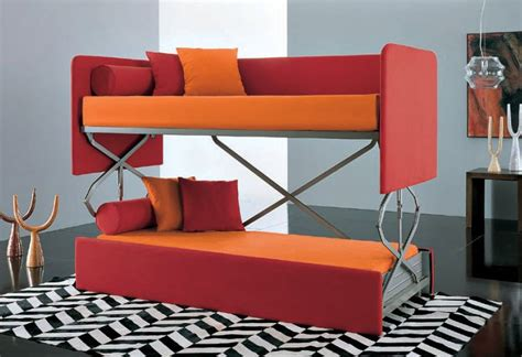 red pull out couch minimize your interior with couch that turn into bed for