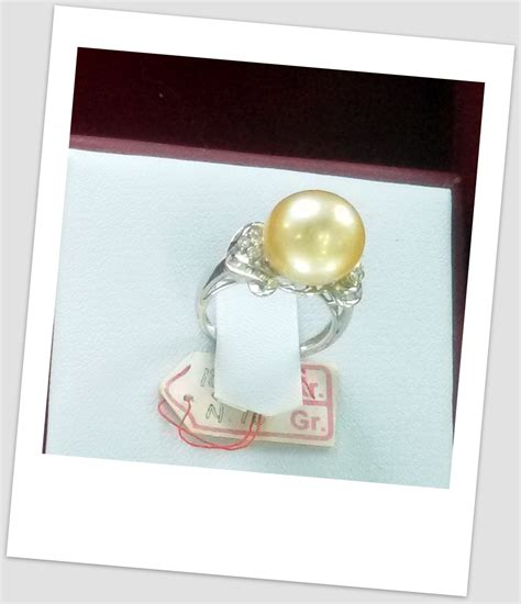 Cincin Mutiara Lombok Perhiasan Accessories 3 handmade gold ring with south sea pearl ctr 129 harga mutiara lombok perhiasan toko emas