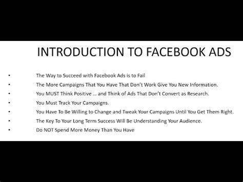 facebook ads video tutorial facebook advertising video tutorial for beginners brett