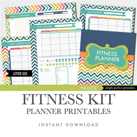 weight loss smart printable fitness planner fitness planner weight loss food diary menu planner