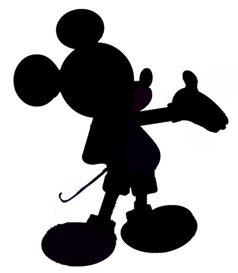 Mickey Mouse Silhouette Clip by Minnie And Mickey Silhouette Clipart Clipart Suggest