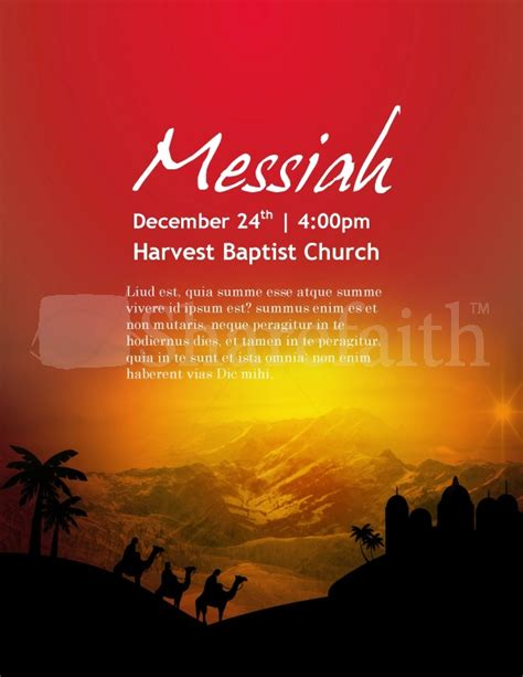 messianic flyer template nativity flyer template flyer