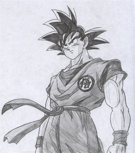 Sketches In Pencil by Goku Drawings In Pencil Drawing Sketch Library