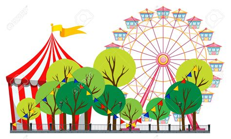 theme park clipart clipart car pictures art amusement park circus scene