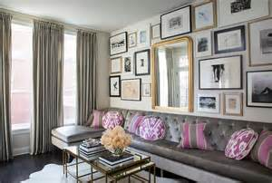 Gray Sofa Pink Pillows Design Ideas