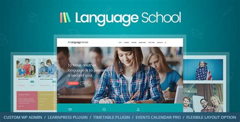 Language School Courses Learning Management System Education Wordpress Theme By Cmsmasters Weebly Education Templates
