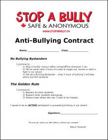 school wellness policy template anti bullying contract printable the anti bully
