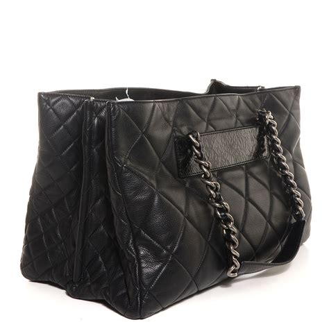Chanel Black Quilted Tote by Chanel Caviar Quilted Coco Casual Tote Black 114424