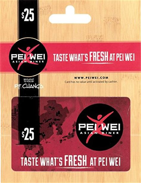 Pei Wei Gift Card - pei wei fresh kitchen 25 gift card arts entertainment party celebration giving cards