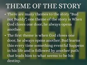 themes in story of the door bud not buddy by aspen goolsby