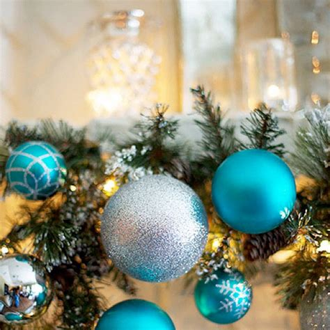 christmas decorations in turquoise turquoise holiday