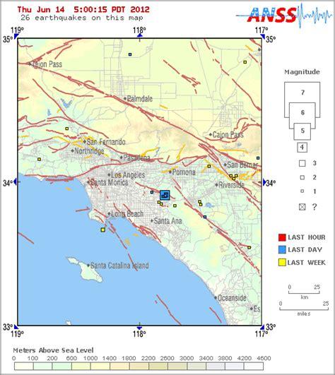 earthquake orange county o c earthquake that triggered 4 aftershocks downgraded