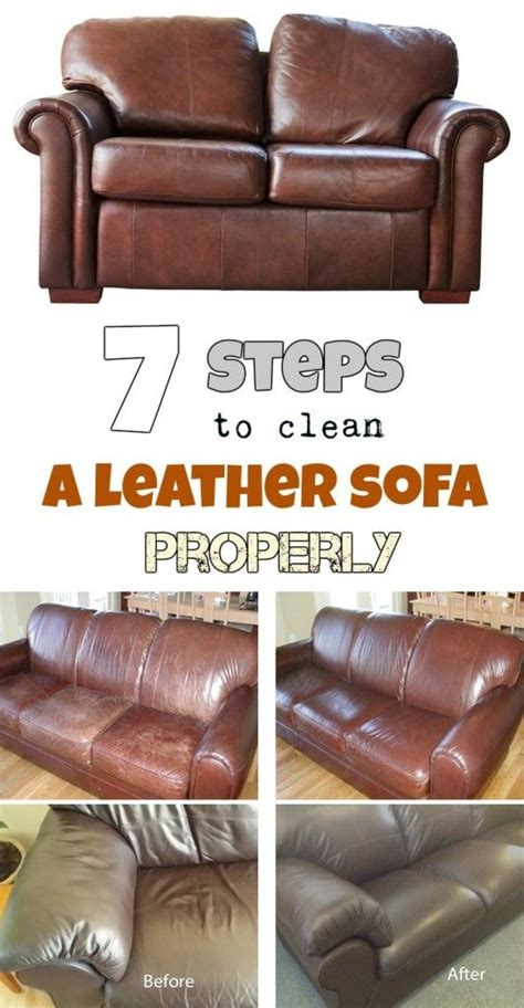 How To Clean Leatherette Sofa by 25 Best Ideas About Cleaning Leather Sofas On