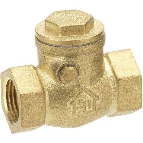 brass swing check valve everbilt 3 4 in brass fpt x fpt swing check valve 240 2