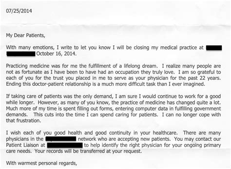 Letter Informing Patient Of Lab Results A Letter To Patients And Caregivers Improving Us Healthcare Is A Team Sport