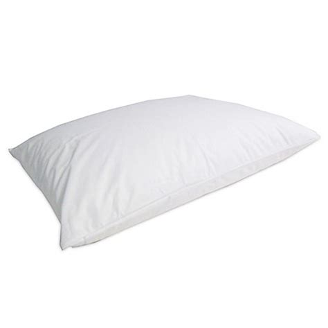 protect a bed pillow protector protect a bed 174 allerzip smooth pillow protector in white bed bath beyond