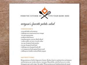 Page From The Kitchen Of Recipe Card Template by Recipe Page Template From The Kitchen Of