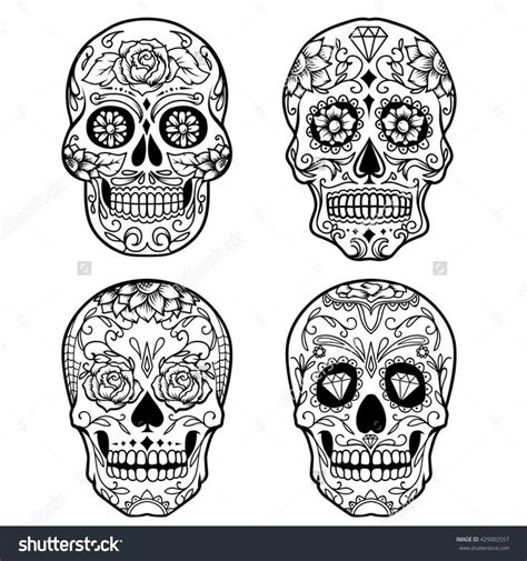 Skull Collage Design Outline by 17 Best Ideas About Sugar On Mini Tattoos Introvert And Sugar Skull