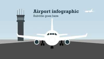 airport infographic a animated powerpoint template from
