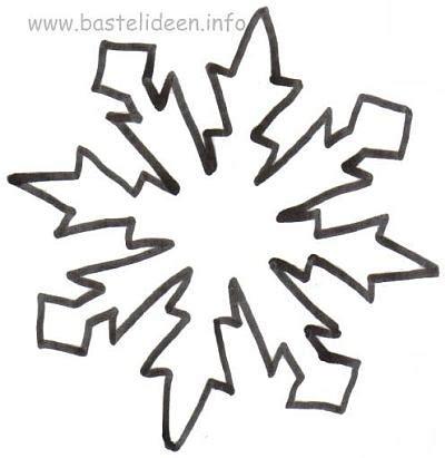 Kostenlose Vorlage Schneeflocke bastelvorlage weihnachten winter schneeflocke 9
