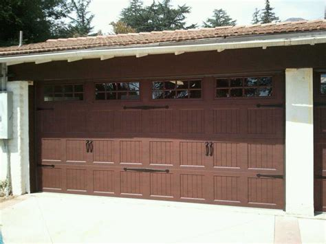 Brown Garage Door by Carriage Style Door Kims Overhead Garage Doors