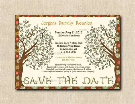 items similar to family reunion save the date cards with