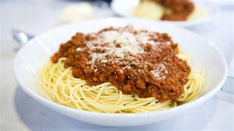 spaghetti bolognese today