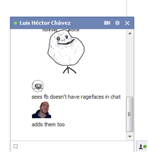 Memes Facebook Chat - memechat use ragefaces and memes in gmail and facebook