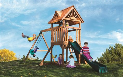 affordable swing sets cedar swing sets are perfect for kids and the family budget