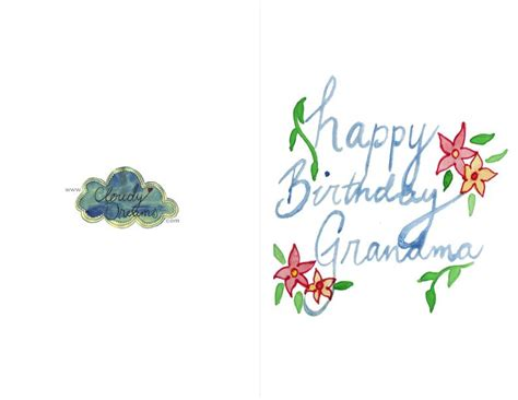 printable birthday cards for grandma free printable birthday cards six lovely free printable