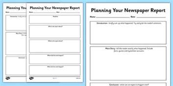 Writing News Report Template newspaper report planning templates newspaper report