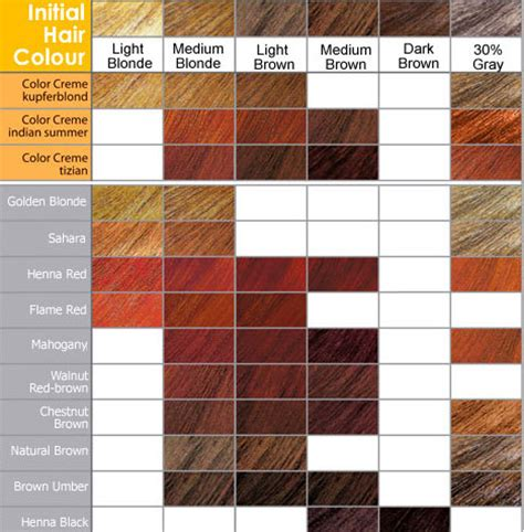 loreal hair color chart ginger hair color chart red shades