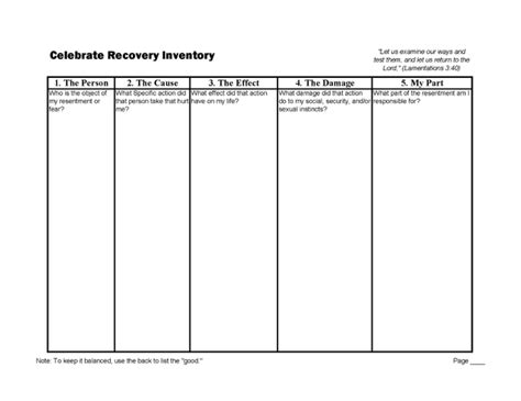 Celebrate Recovery 12 Steps Worksheets by Setting The Prisoner Free Comfort Overcomes Shame