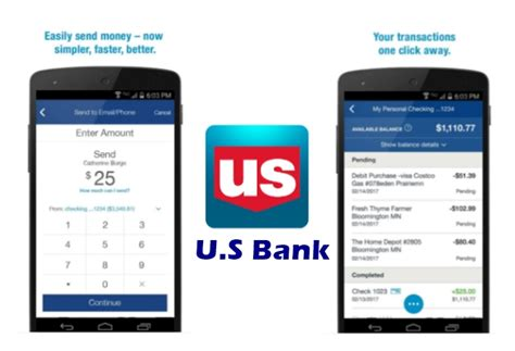 us bank mobile app for android u s bank users can now send money using email address and phone number the android soul