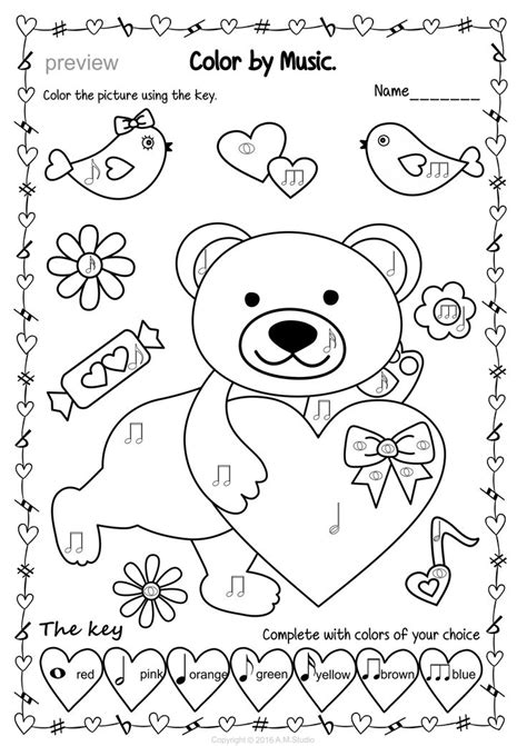 music valentine coloring pages 49 best valentine s day music activities images on pinterest